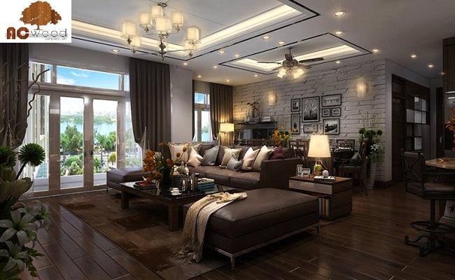 Các loại sàn gỗ tự nhiên cho phòng khách được ưa chuộng