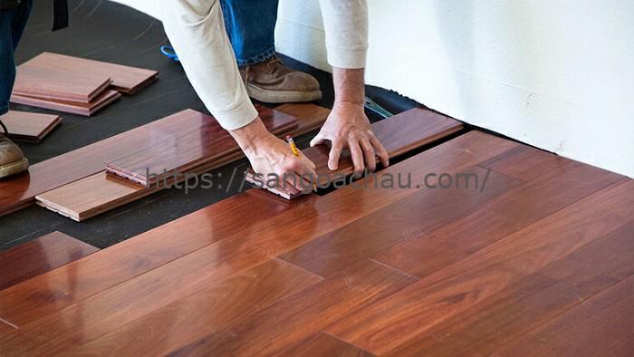 Lắp sàn gỗ 1