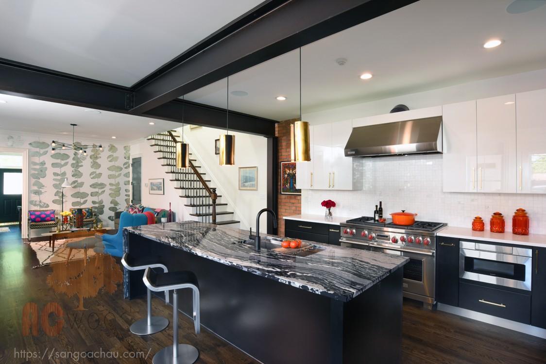 Công thức kết hợp nội thất và sàn gỗ tối màu