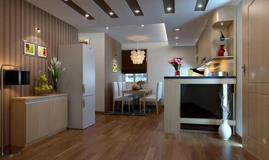 Lựa chọn sàn gỗ nào phù hợp với phòng bếp