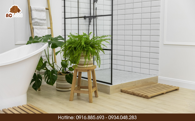 lắp sàn gỗ phòng tắm